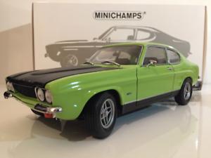 Minichamps-150089075-FORD-CAPRI-RS-2600-1970-verde-NUEVO-1-18-Escala