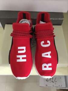 "factory price 491d1 d984e Details about Adidas Pharrell Williams NMD Human Race ""HU Race"" Red Size 8  BB0616"