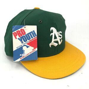 Vintage-Oakland-Athletics-A-039-s-pro-Youth-por-Eds-West-Anos-3-6-Gorra-Plana-Verde