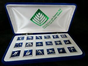 1983-Jeux-Canada-Games-Saguenay-Lac-St-Jean-Set-of-18-Pin