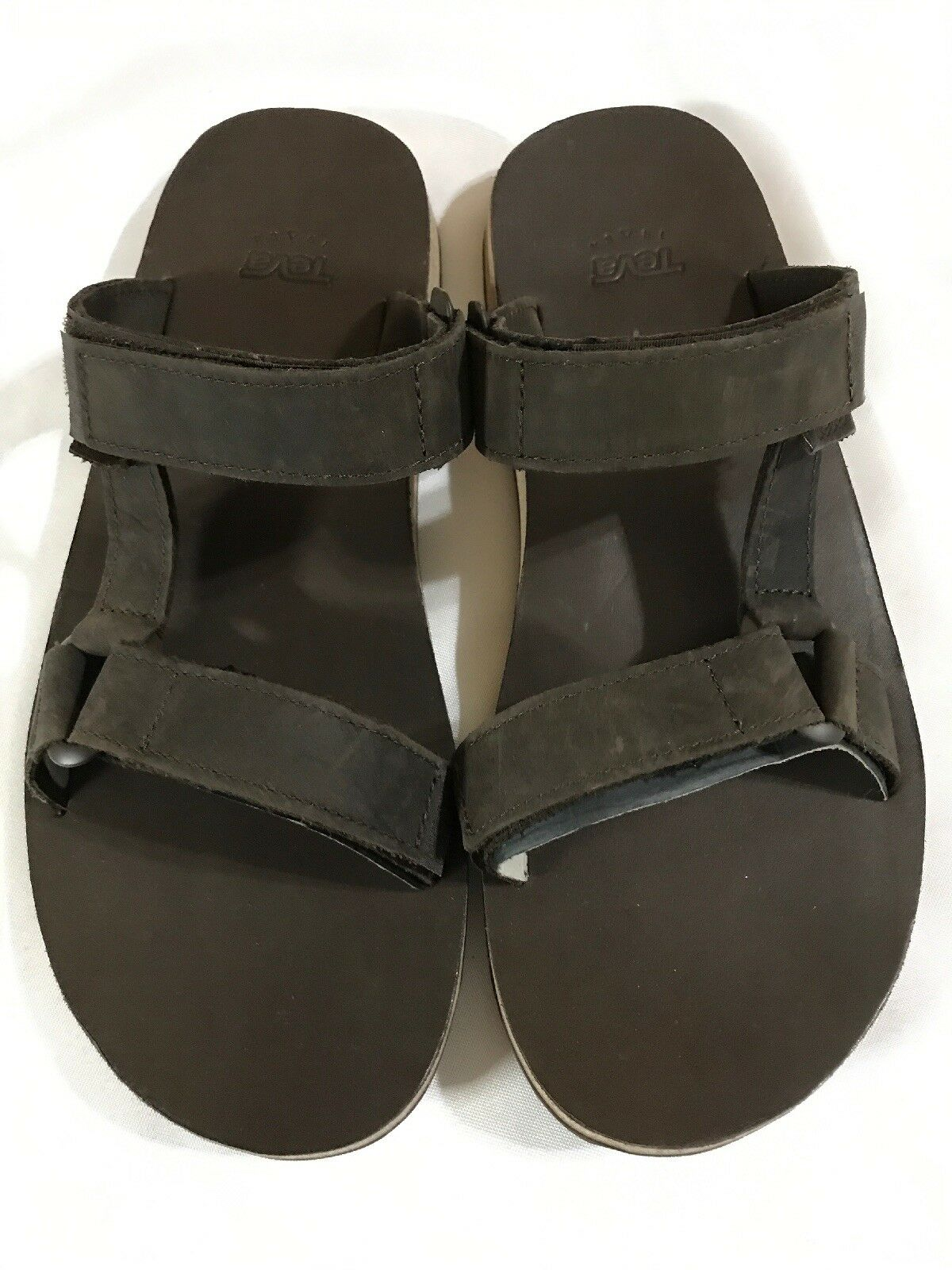 Teva Mens Universal Slides Size 11 Brown Synthetic Strap Sandals shoes