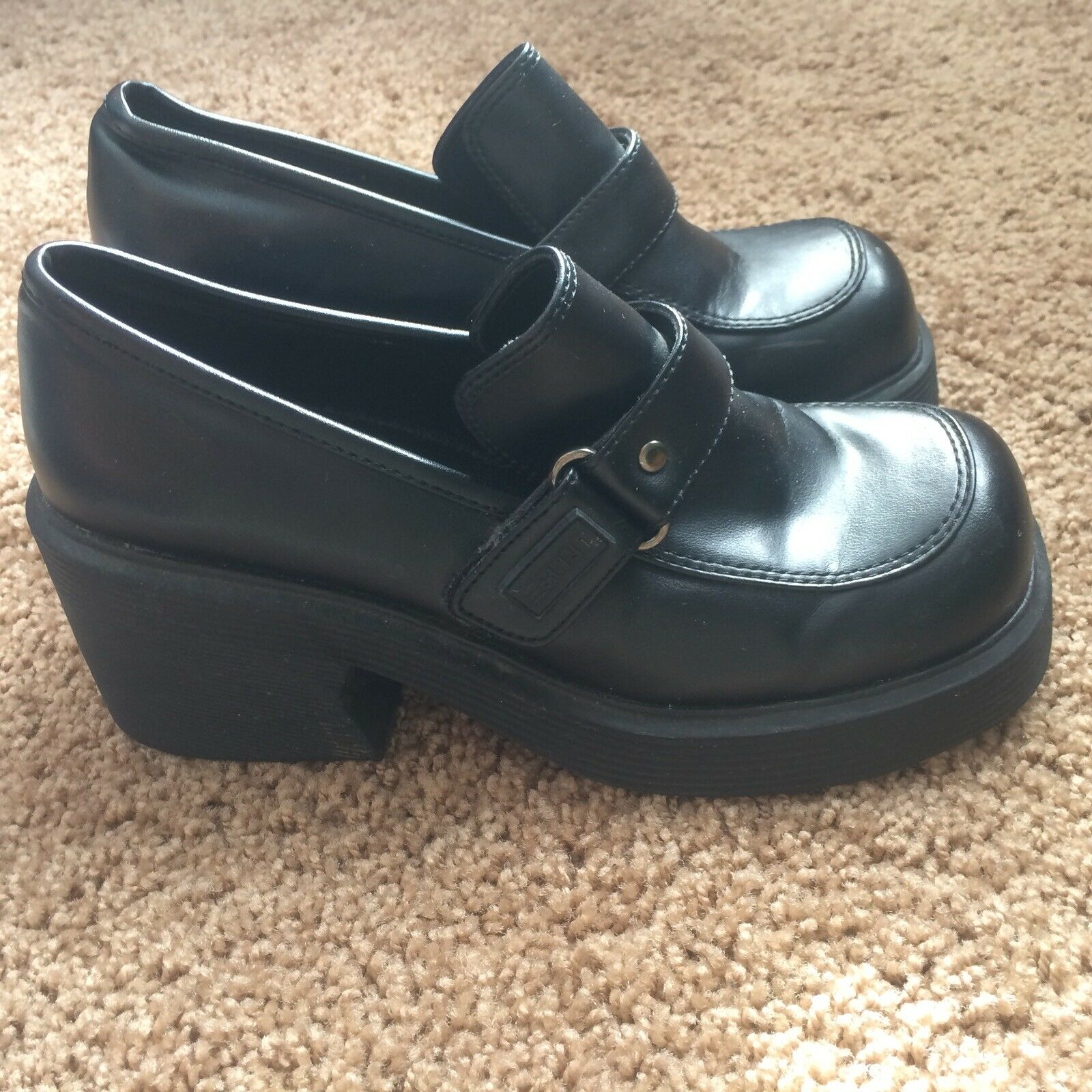 Black Womans Esprit Clogs Shoes Wedged Size 5.5 Preowned