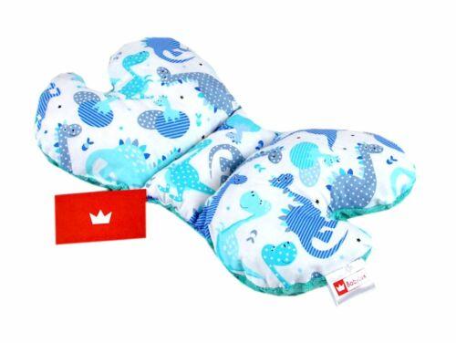 BabyLux Schmetterlingskissen Babykissen Kinderwagenkissen Reisekissen Anti-shock