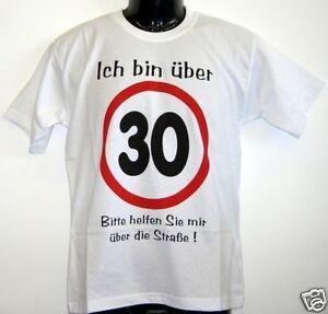Fun-T-Shirt-ich-bin-ueber-30-weiss-S-XXL
