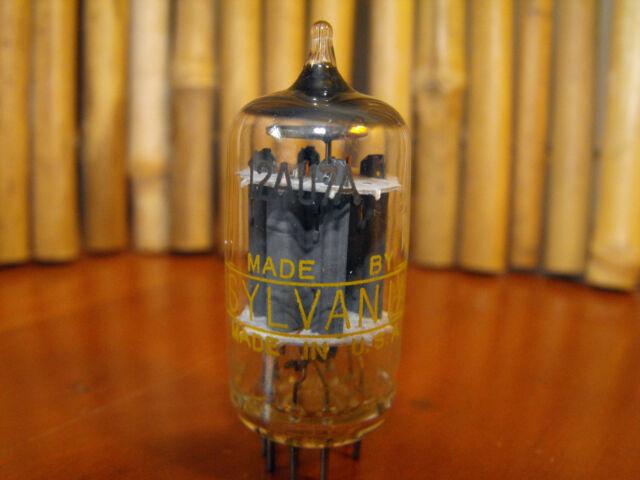 Vintage Sylvania 12AU7A ECC82 Vacuum Tube