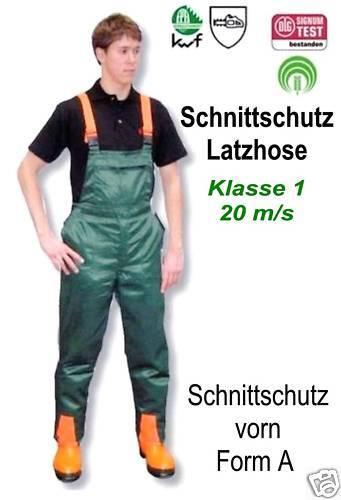 Protección de corte pantalones talla 25 bajo setzt Baquero con protección de corte a delante kl.1 20m//s