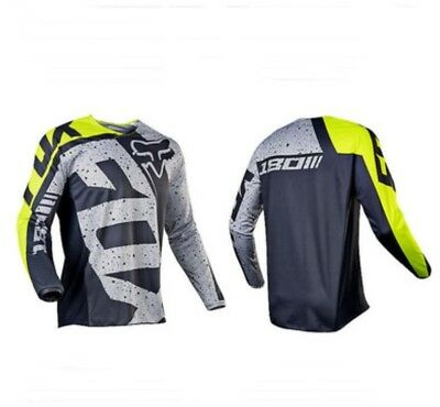 Fox Mens Riding Jersey Long T-Shirts Motocross Motorcycle Mountain Bike Dirt