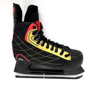 M-amp-L-Sport-t-24-Eishockey-Schlittschuh-Unisex-Gr-45-Iceskate-schwarz-rot
