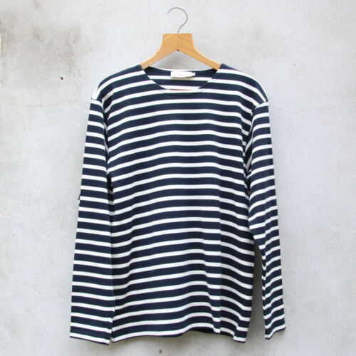 Navy and Off White Stripes //// Fairtrade Original Breton Top by Armor-lux