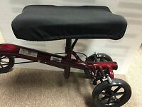 Knee Walker Scooter Gel Seat Pad Cover Black Fits All Styles 8x 14