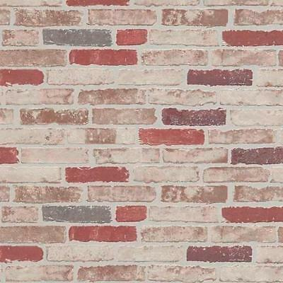 Vintage Neutral Brick Wallpaper Paste the Wall Fully Washable