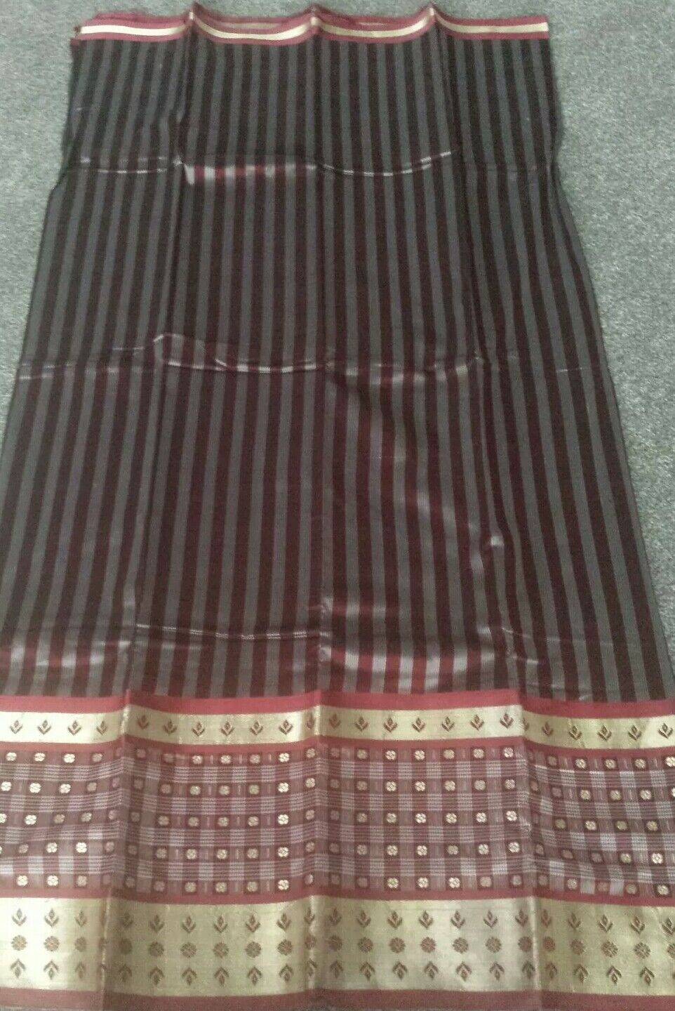 Indian maroon and gold Saree . One size