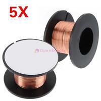5pcs 0.1mm Copper Soldering Solder PPA Repair Enamelled Reel Weld Wire Roll CB