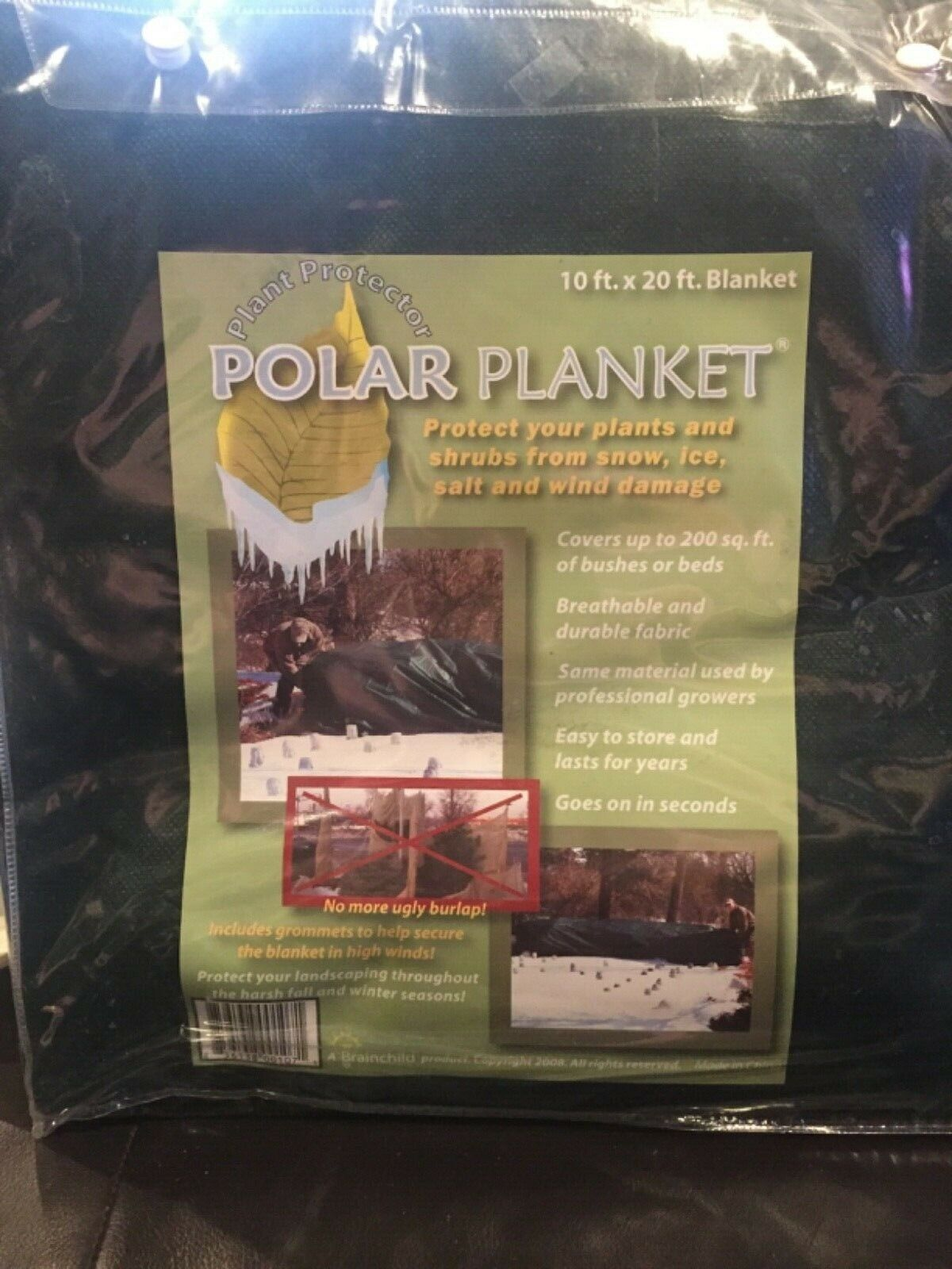 POLAR PLANKET Plant Protector for Fall Winter 10 FT x 20 FT Breathable Durable