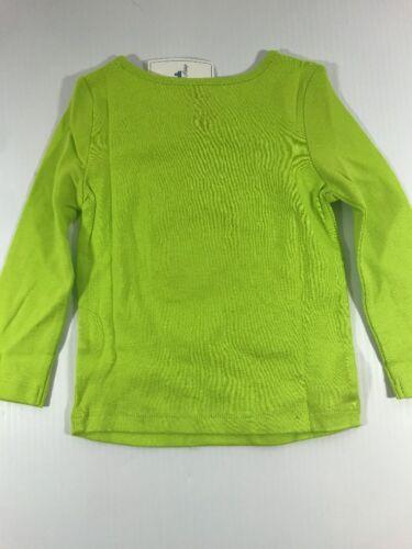 Baby Gap Girls purrrfect Green Playtime Favorites Cat Heart Long Sleeve T shirt