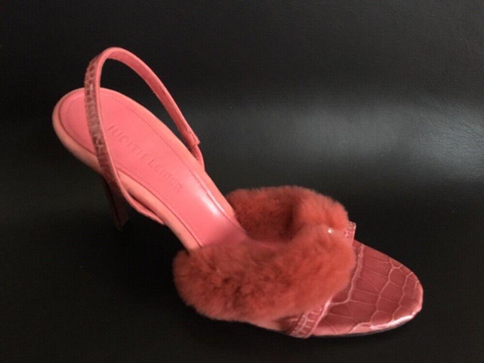 JUDITH LEIBER  Size Leder / Mink Sandals pink Size  8.5 B dd5e77