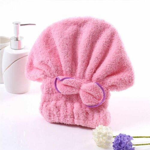 Lovely Wrapped Microfiber Textile Bath Towel Hair Towel Shower Hat Hat Cap
