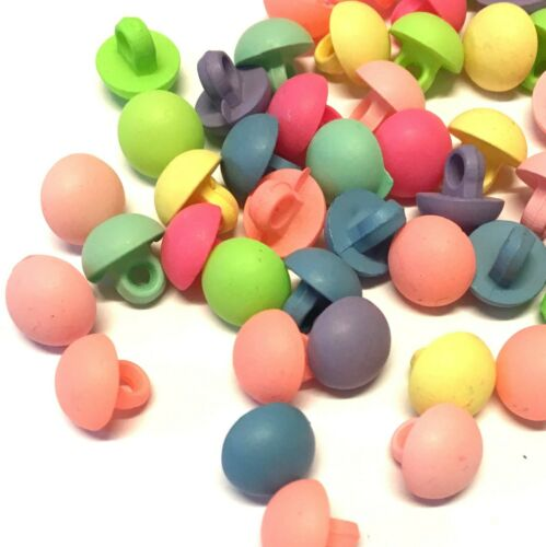 20 x 10mm colourful half dome buttons with rear shank