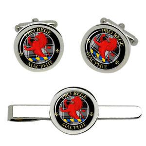 Macphie-Ancient-Scottish-Clan-Cufflinks-and-Tie-Clip-Set