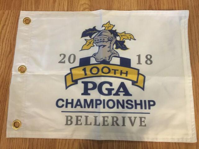 2018 PGA GOLF CHAMPIONSHIP MAJOR LOGO PIN FLAG WITH GROMMETS FREE SHIPPING TIGER