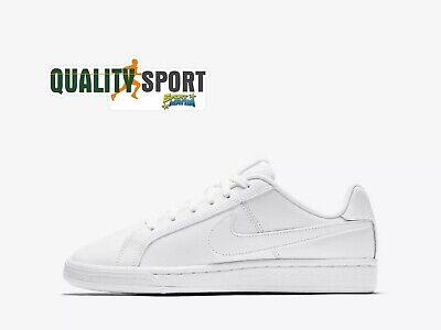 Nike Court Royale Bianco Scarpe Shoes Sportive Sneakers 839985 100 2019 Bianchezza Pura