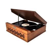 Pyle Retro Vintage Classic Style Turntable Vinyl Record Player W/ Usb Recording on Sale