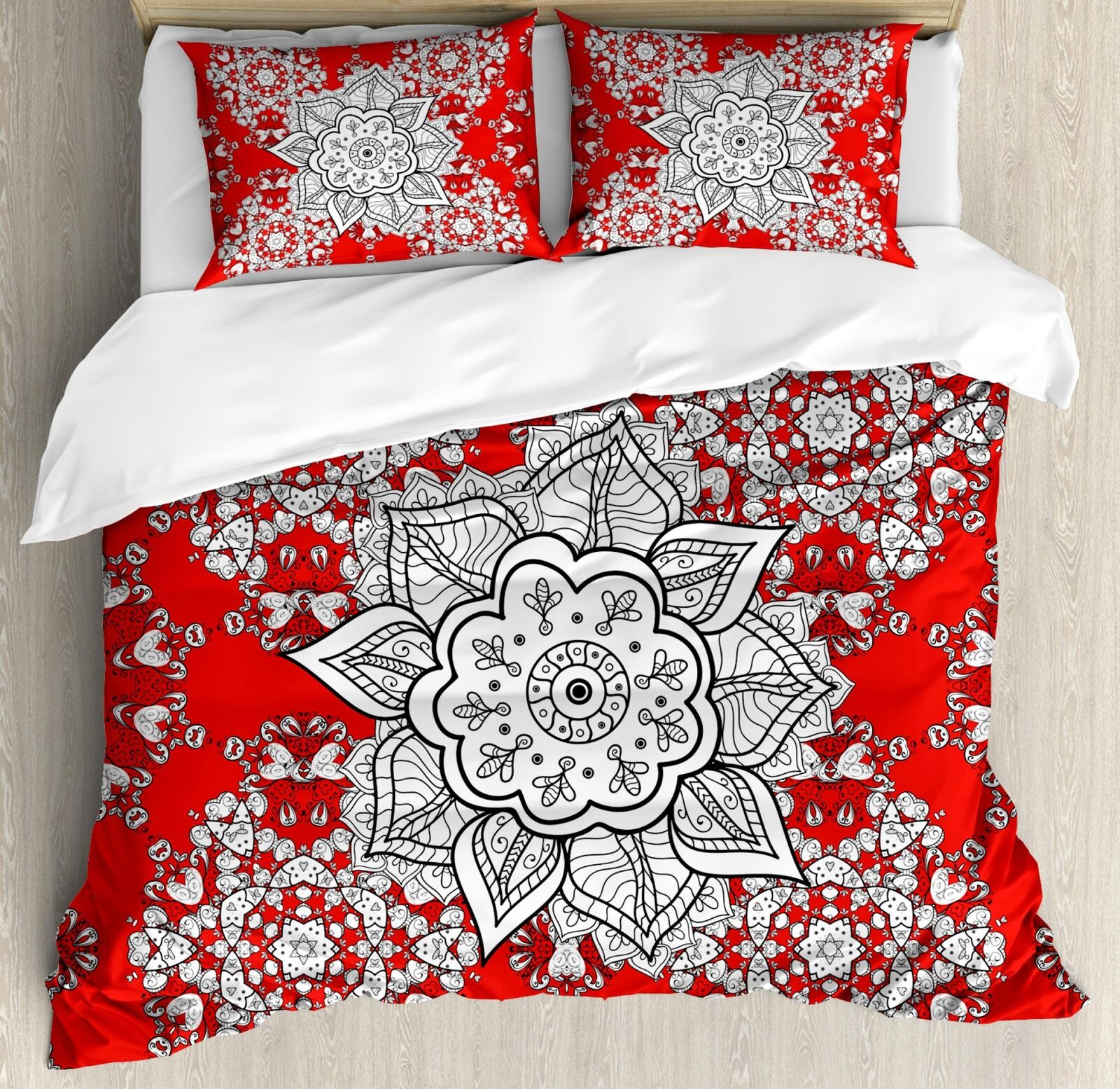 Eastern Mandala Duvet Cover Set Twin Queen King Dimensiones with Pillow Shams