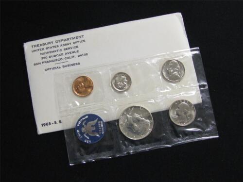 1965 Special Mint 40/% Silver Half Dollar in Original Government Envelope