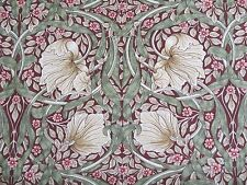 WILLIAM MORRIS CURTAIN FABRIC Pimpernel 1.2 METRES AUBERGINE & OLIVE DM3P224491