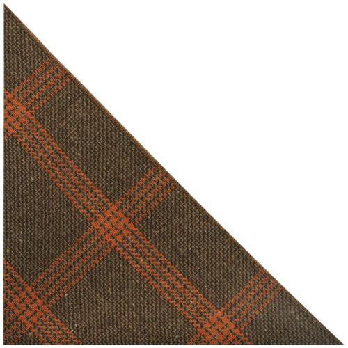 Biscuit Brown /& Orange Birdseye Check Pocket Square Handkerchief