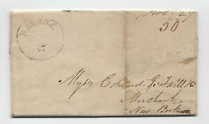 1826-Raleigh-NC-stampless-folded-letter-to-NYC-5246-345