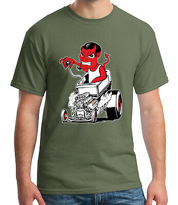 Hot Rod Kid/'s T-shirt Devil Driving Street Rod Tee for Youth 1312C