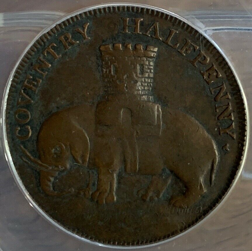 1792 Token Great Britain DH-231 Warwickshire Coventry - ANACS VF35