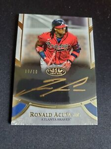 Ronald Acuna Jr. - 2021 Topps Tier One Gold Ink On Card Auto #10/10