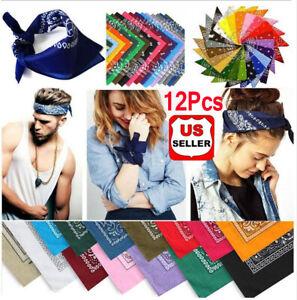 12Pcs-Wholesale-Paisley-Print-Bandana-cotton-blend-Head-Warp-Scarf-Face-Mask-USA