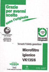 Vorwerk-Folletto-4857-Microfiltro-Folletto-K135-136