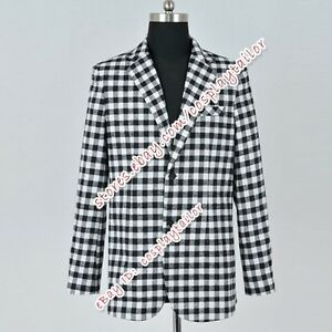 Fallout-New-Vegas-Game-Benny-Cosplay-Costume-Plaid-Cost-Suit-Cos-Jacket-Clothing
