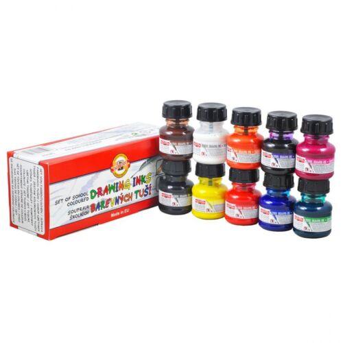 Künstler Zeichnen Tinte 20g Gläser Koh I Noor 7 Colours Lichtecht Airbrush