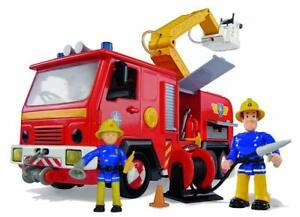 Simba-Feuerwehrmann-Sam-Jupiter-mit-2-Figuren-Feuerwehrauto-Neu