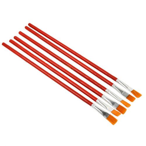 6Pcs Oil Painting Supplies Watercolor Nylon Hair Acrylic Artist Paint Brush Set