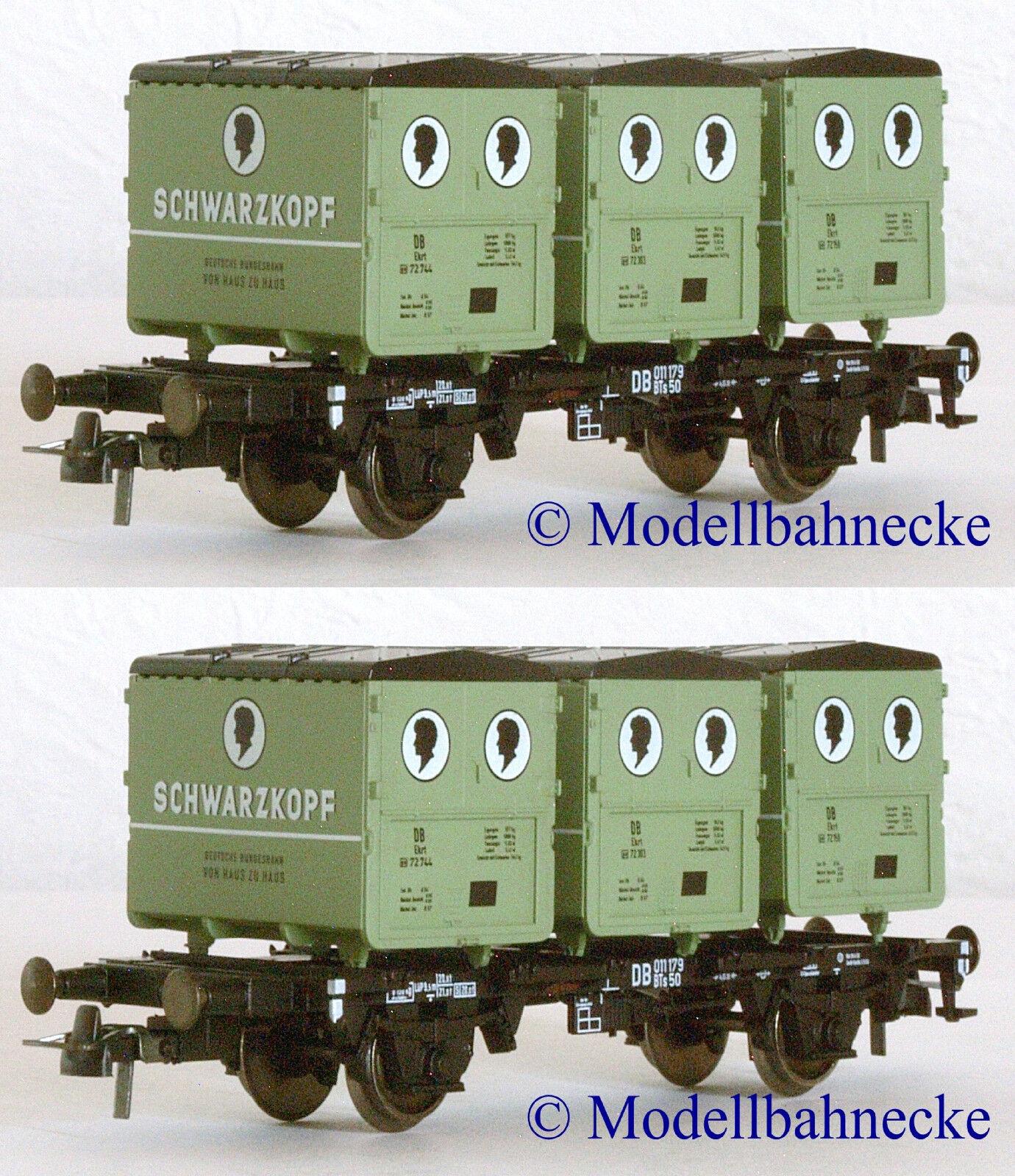 Confezione doppia ROCO 46522 contenitore portante carrello BTS 50 della DB o reggiseno  Schwarzkopf