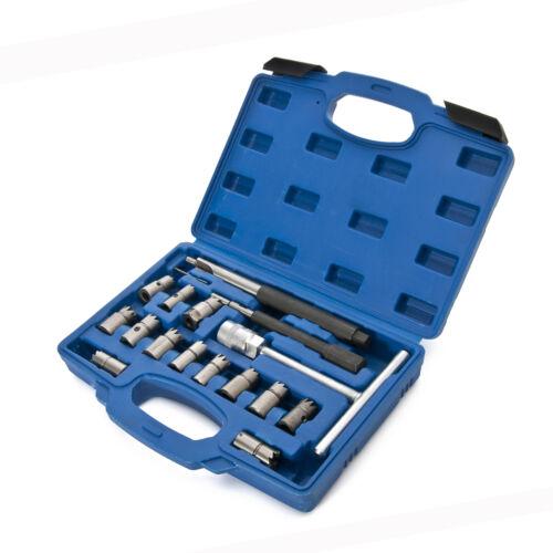 17 teilig Diesel Injektoren Injektor Fräser Dichtflächen Satz Dichtsitz Werkzeug