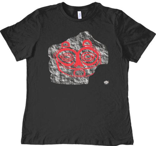 Petroglyph of Tsagiglala Women/'s T-shirt She Who Watches Columbia River Gorge