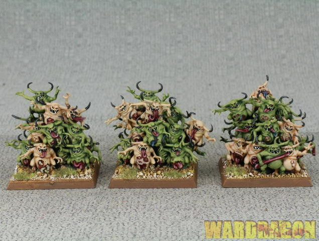 40mm Warhammer WDS painted Daemons of Chaos Nurglings d74