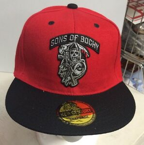 Details about Sons Of Bochy Baseball Hat Snapback Red And Black Giants Flat  Brim 4e64b934d61