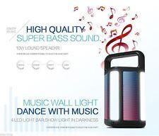 Cuboid Outdoor Portable Wireless Bluetooth Speaker w/ Powerbank LED FM radio