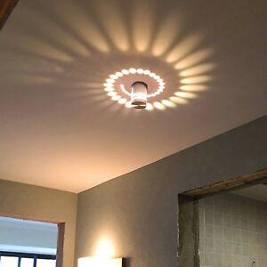 Détails sur Applique Murale Interieur LED Effet Moderne 3W Blanc Mur  décoration Chambre