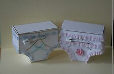 3D BABY FRILLY KNICKERS KEEPSAKE GIFT PAPER CARD TEMPLATE
