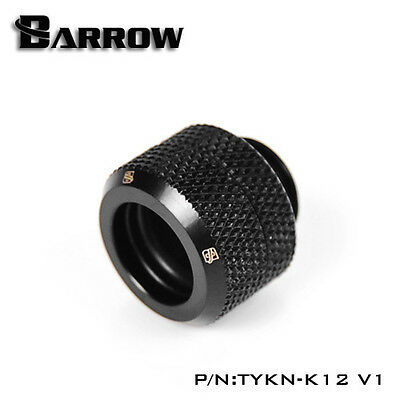 "Barrow G1/4"" Matte Black Compression Fitting For 12mm Rigid Tubing - 041"