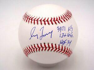 GREG MADDUX HOF 14, 3371 KS, 18X GG STAT SIGNED MLB BASEBALL AUTOGRAPH AUTO